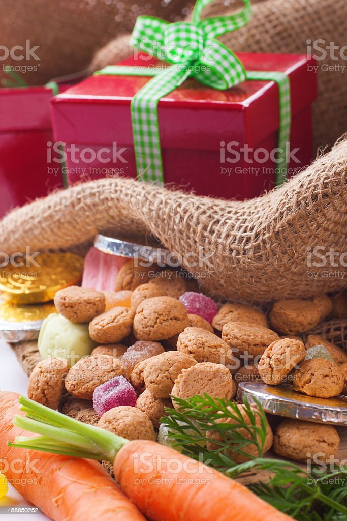 Typical Dutch celebration: Sinterklaas stock photo