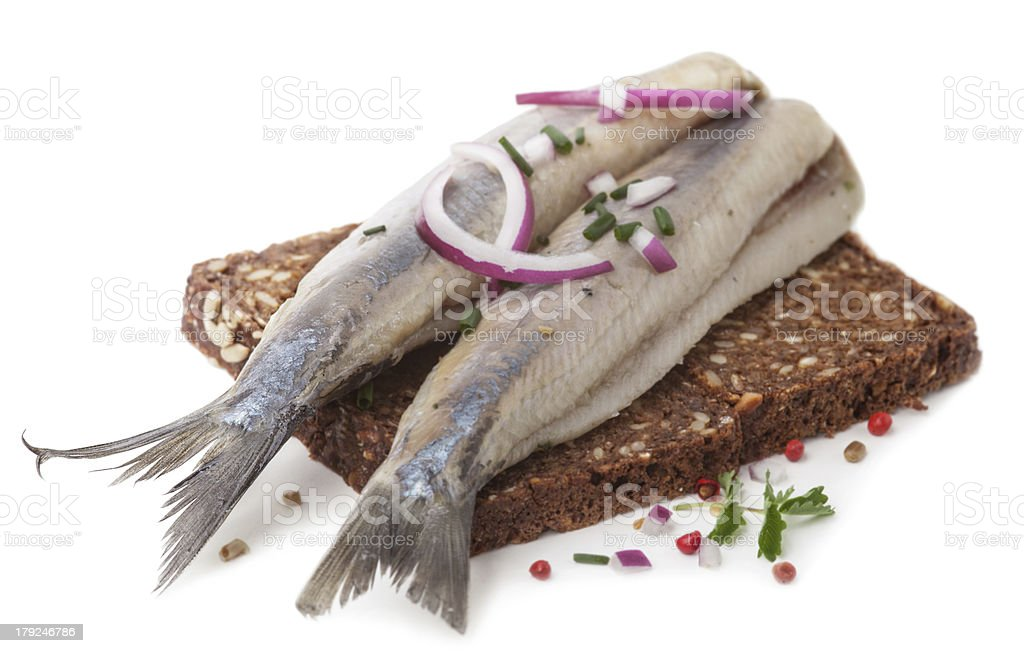 typical Dutch herring stock photo