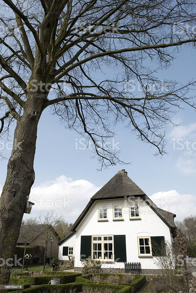 Typical dutch house stock photo