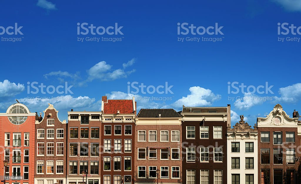 Typical Dutch Houses in Amsterdam royalty-free stock photo