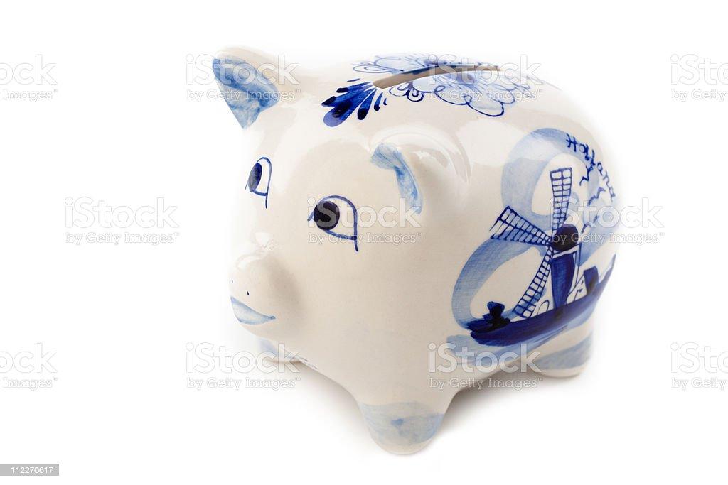 typical dutch piggy bank stock photo