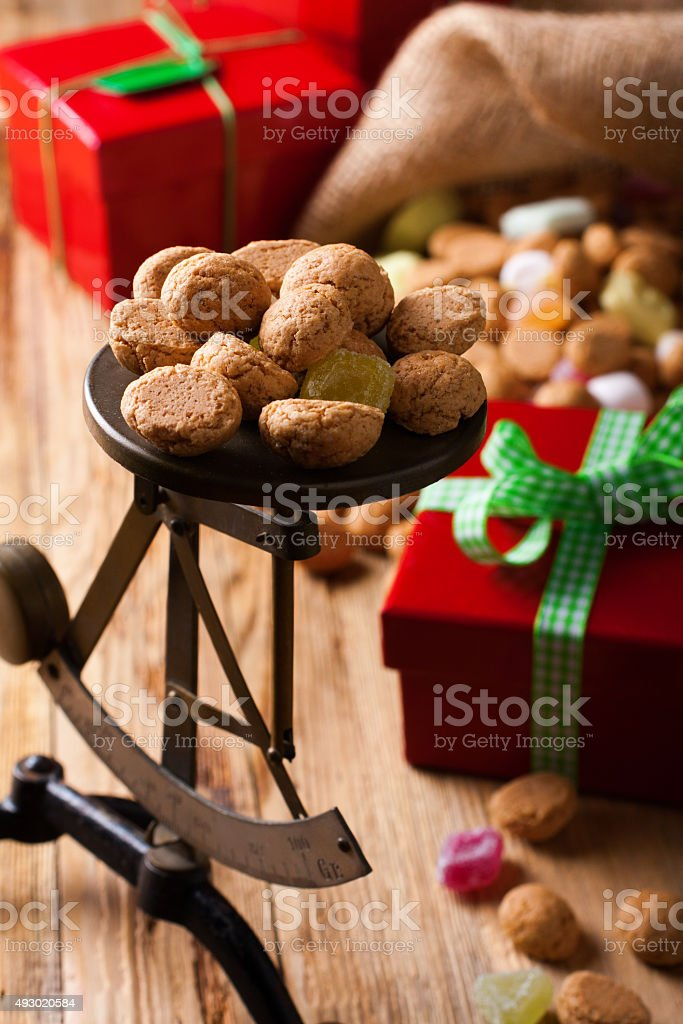 Typical dutch sweets for Sinterklaas stock photo