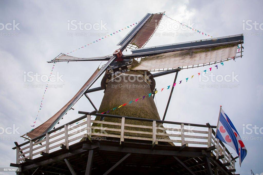 Typical Dutch Windmill stock photo