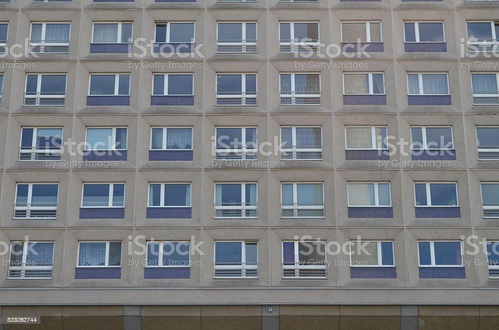 typical east german plattenbau buildings in berlin stock photo