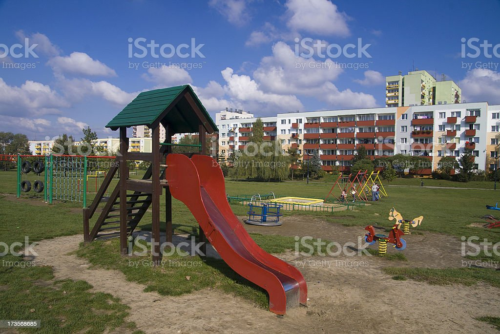 Typical eastern european playground royalty-free stock photo