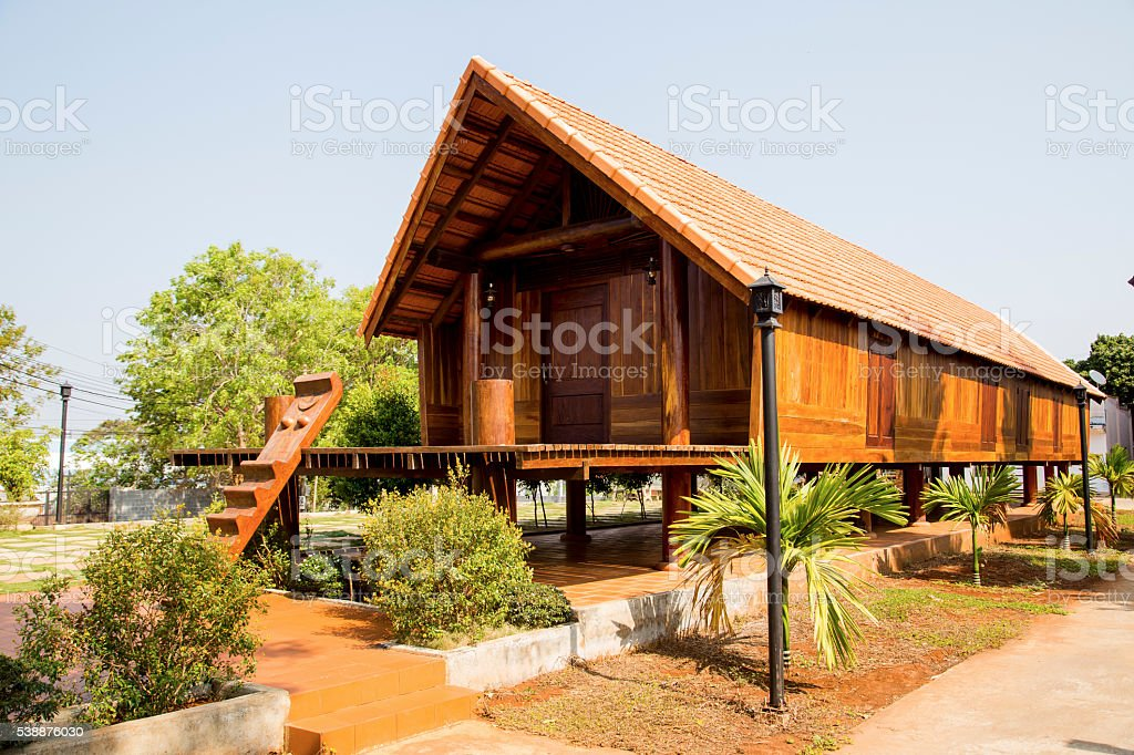 Typical Ede long house stock photo