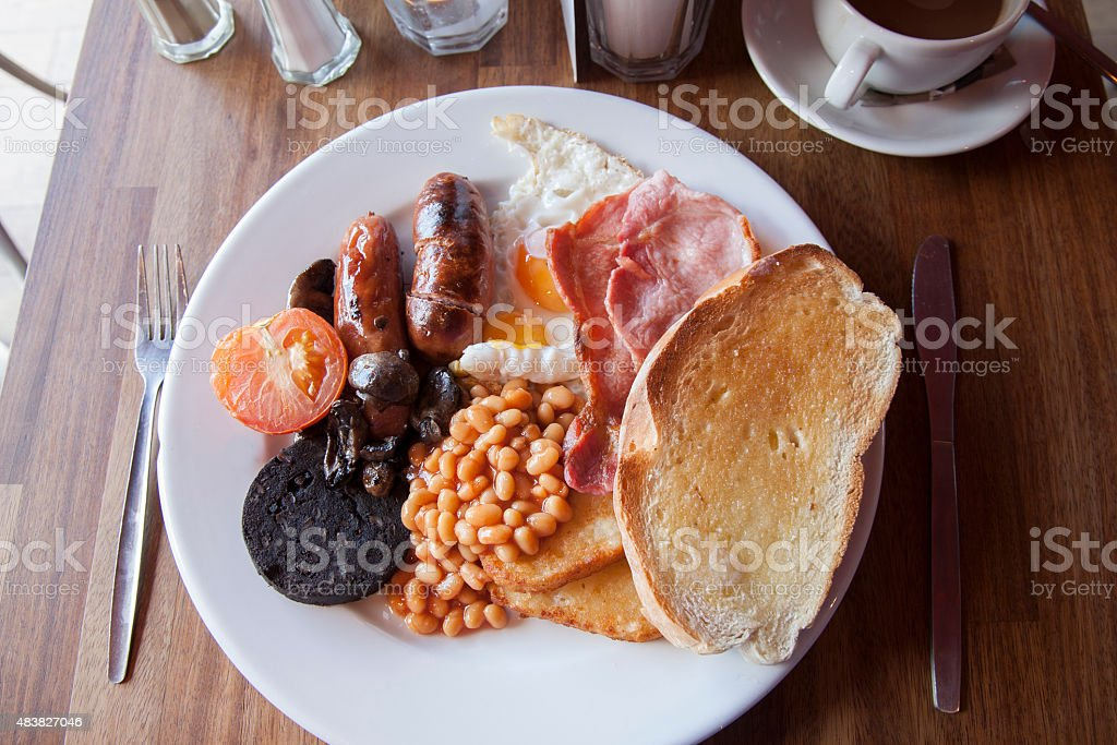 Typical English Breakfast stock photo