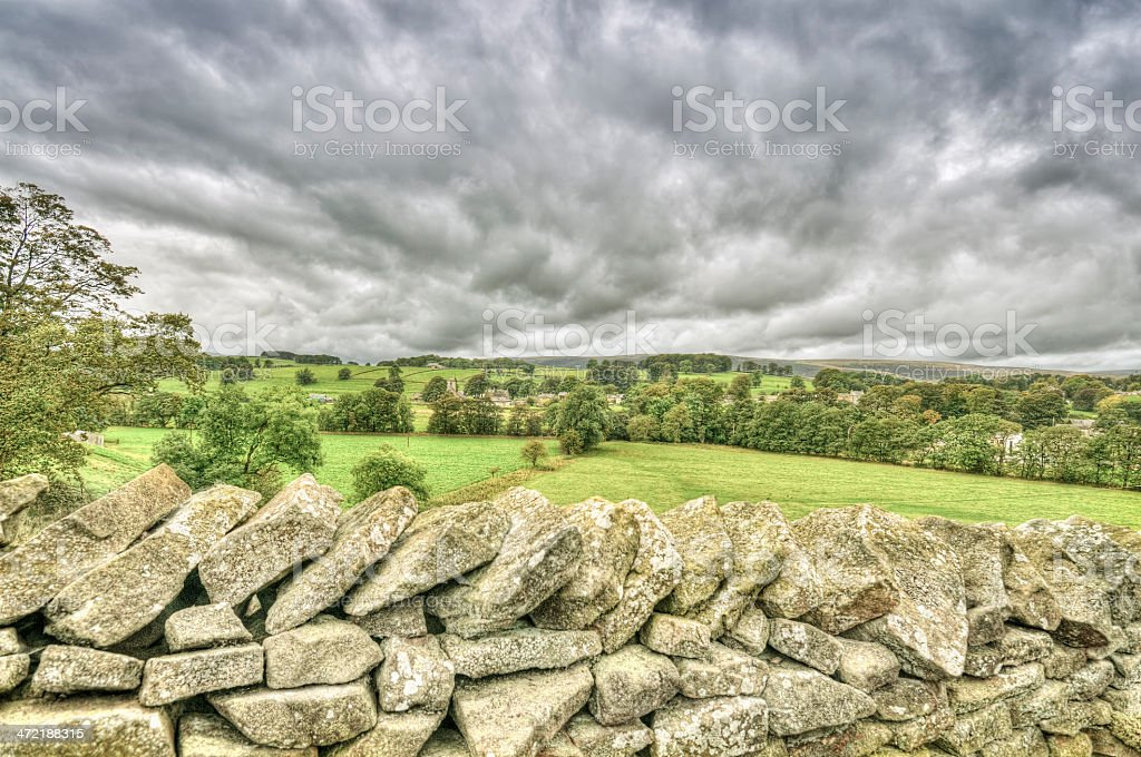 Typical English countryside in the Yorkshire Dales royalty-free stock photo