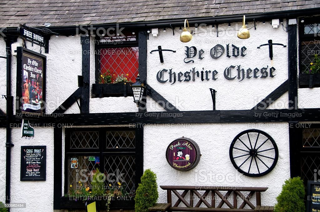 Typical English pub, Castleton, UK stock photo