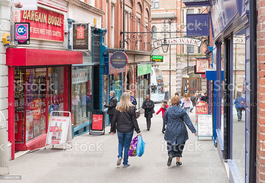Typical English street scene stock photo