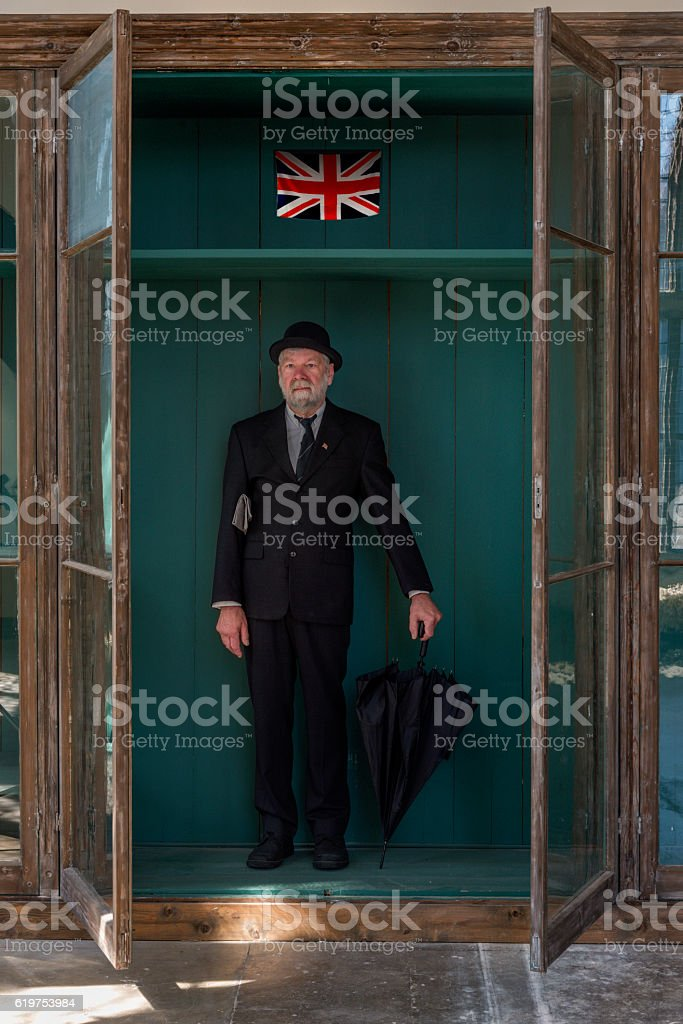 Typical Englishman on display stock photo