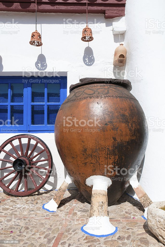 Typical farm in La Mancha, Spain royalty-free stock photo