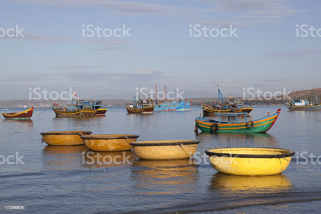 Typical fishing boats, Vietnam royalty-free stock photo