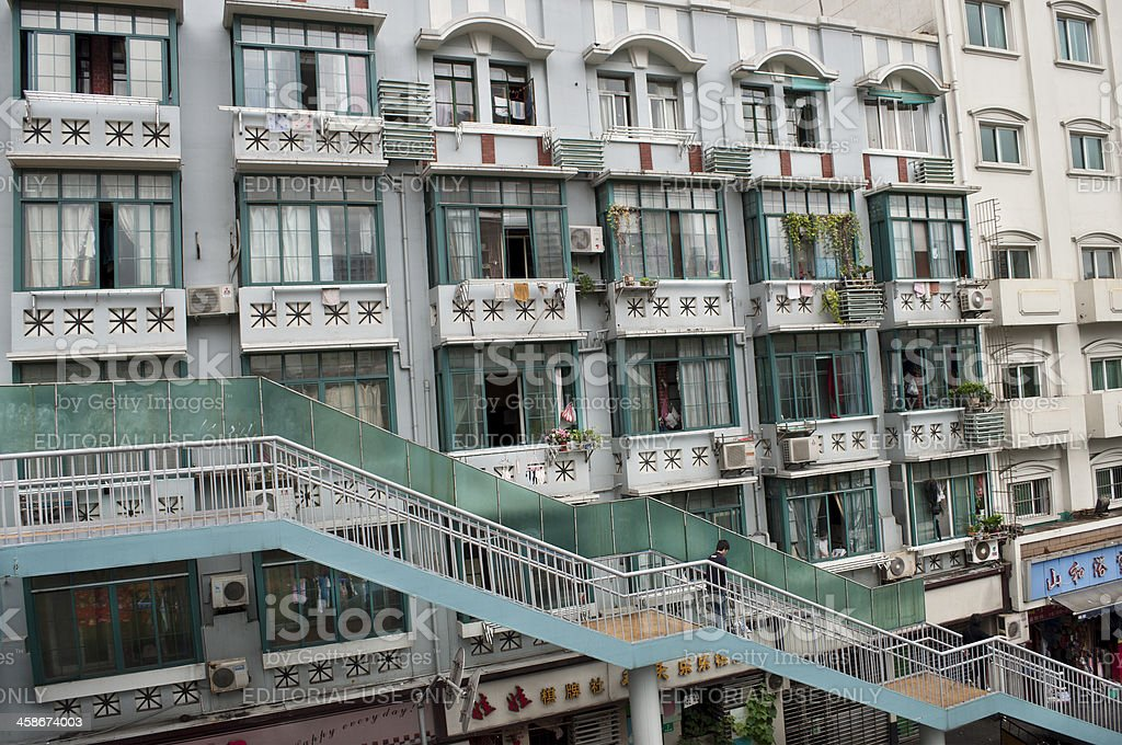 Typical Flats in Shanghai royalty-free stock photo