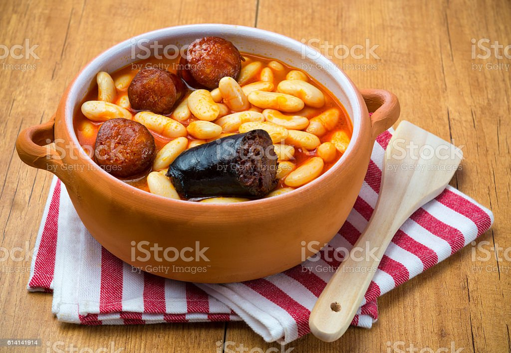 Typical food from Asturias,Spain stock photo