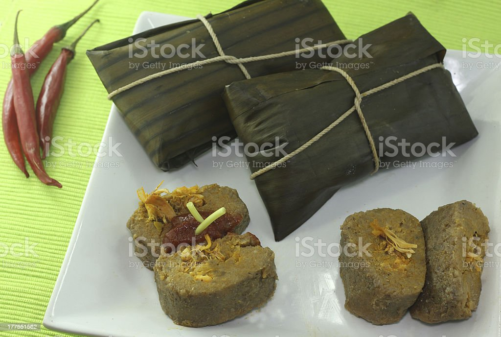typical food of Puerto Rico stock photo