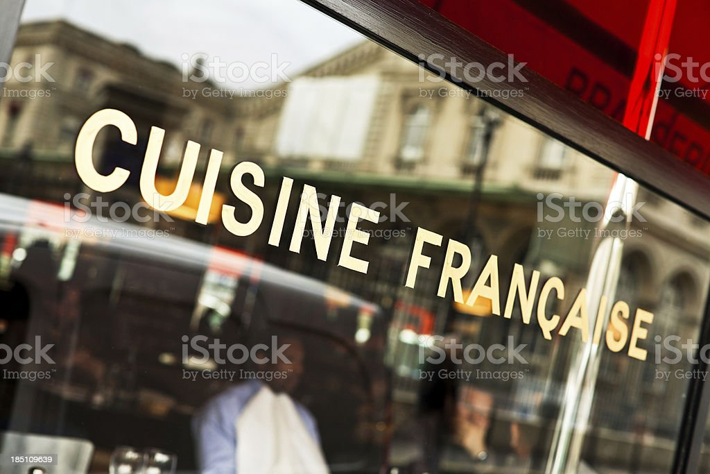 Typical French Cafè in Paris, Franch Food royalty-free stock photo