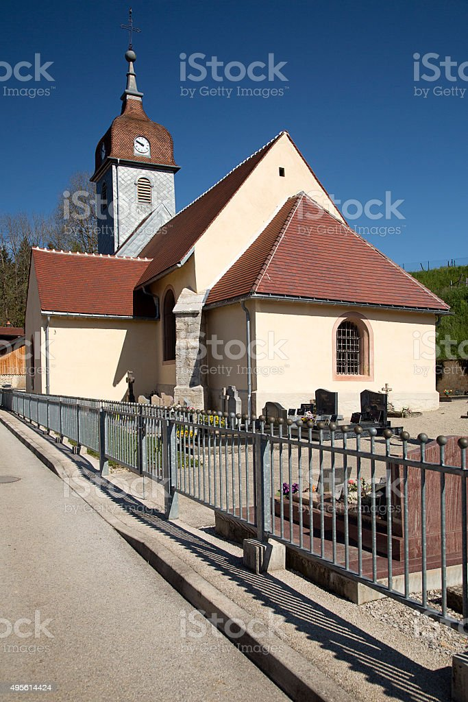 Typical French church stock photo