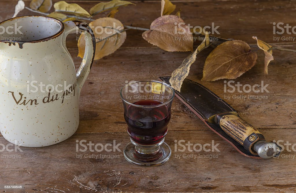 Typical french drink. Still life stock photo