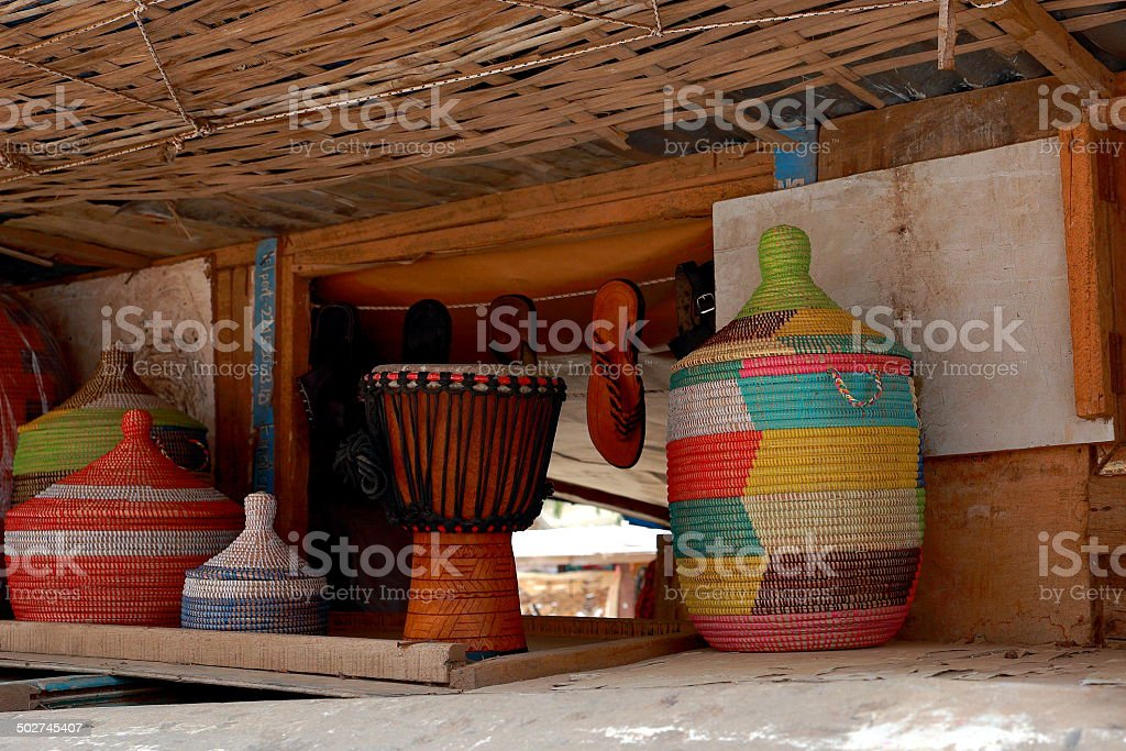 Typical gifts-Goree stock photo