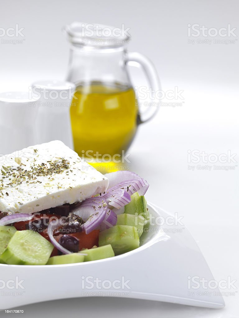 typical greek salad royalty-free stock photo