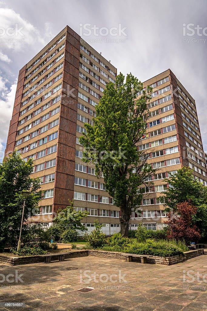GDR typical high-rise buildings - Plattenbau royalty-free stock photo