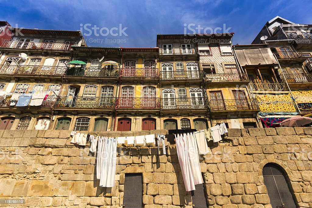 Typical house facade in the city of Porto royalty-free stock photo