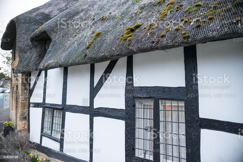 Typical House facade in the village of Broadway stock photo
