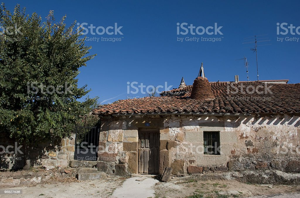 Casa t?pica burgalesa stock photo