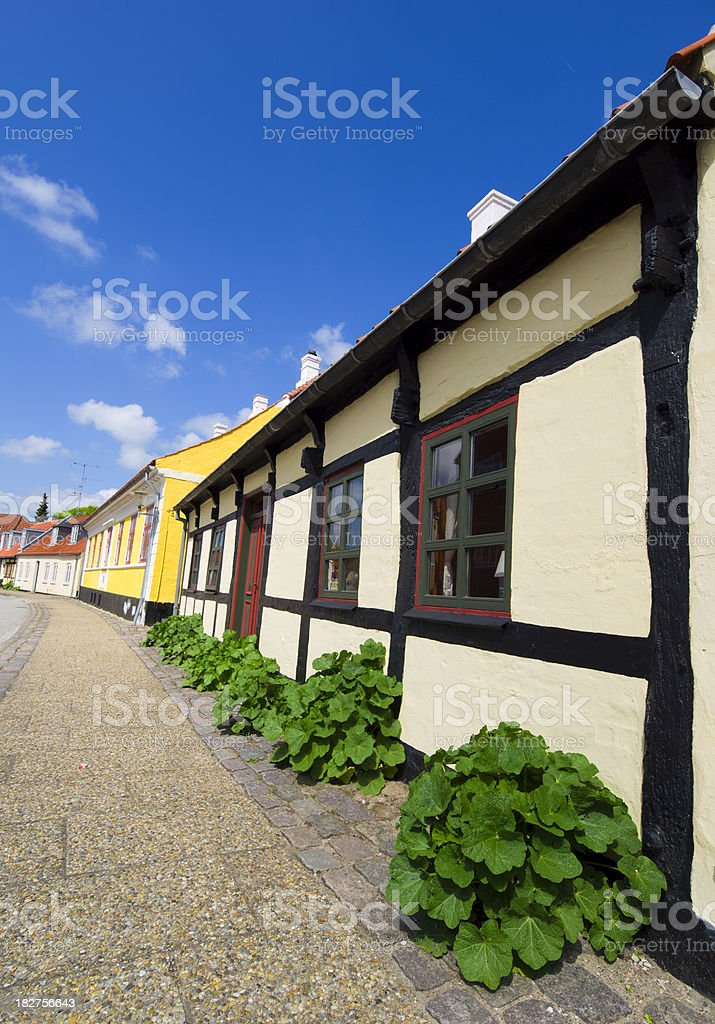 Typical house in northern Jutland stock photo