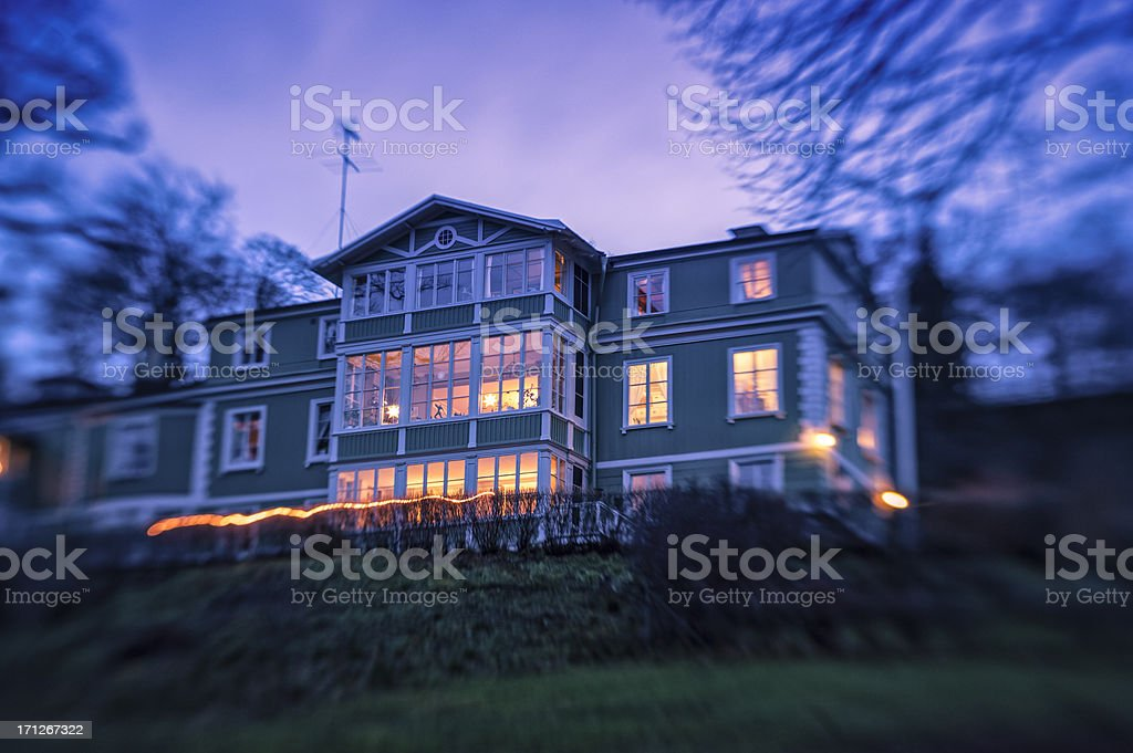 Typical House In Sweden, Stockholm royalty-free stock photo