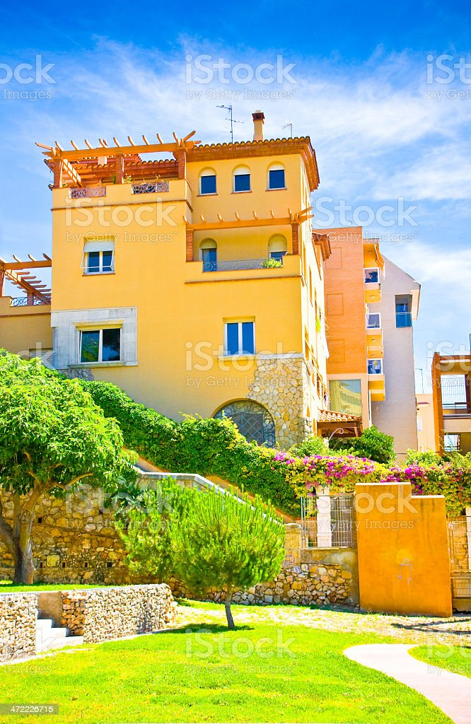 Typical house in Tarragona town, Spain royalty-free stock photo