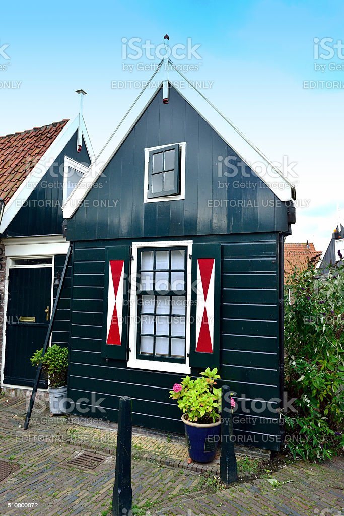 Typical house in Volendam stock photo