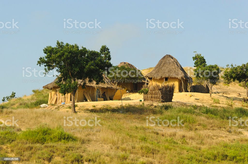 Typical Houses in Africa stock photo