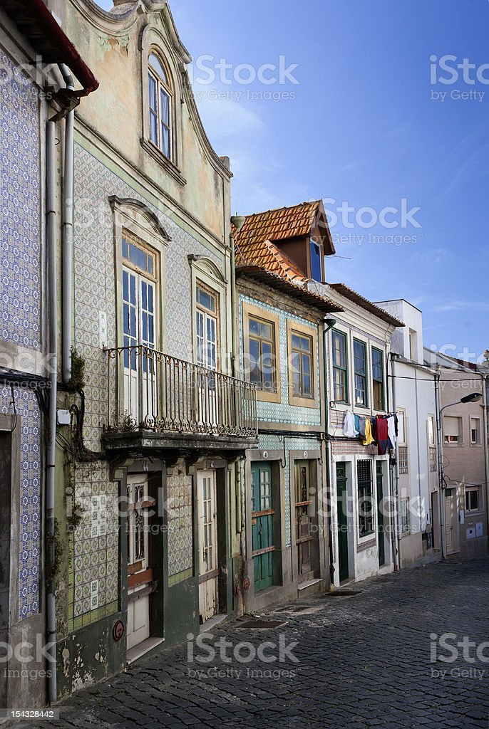 Typical houses of Aveiro (Portugal) royalty-free stock photo