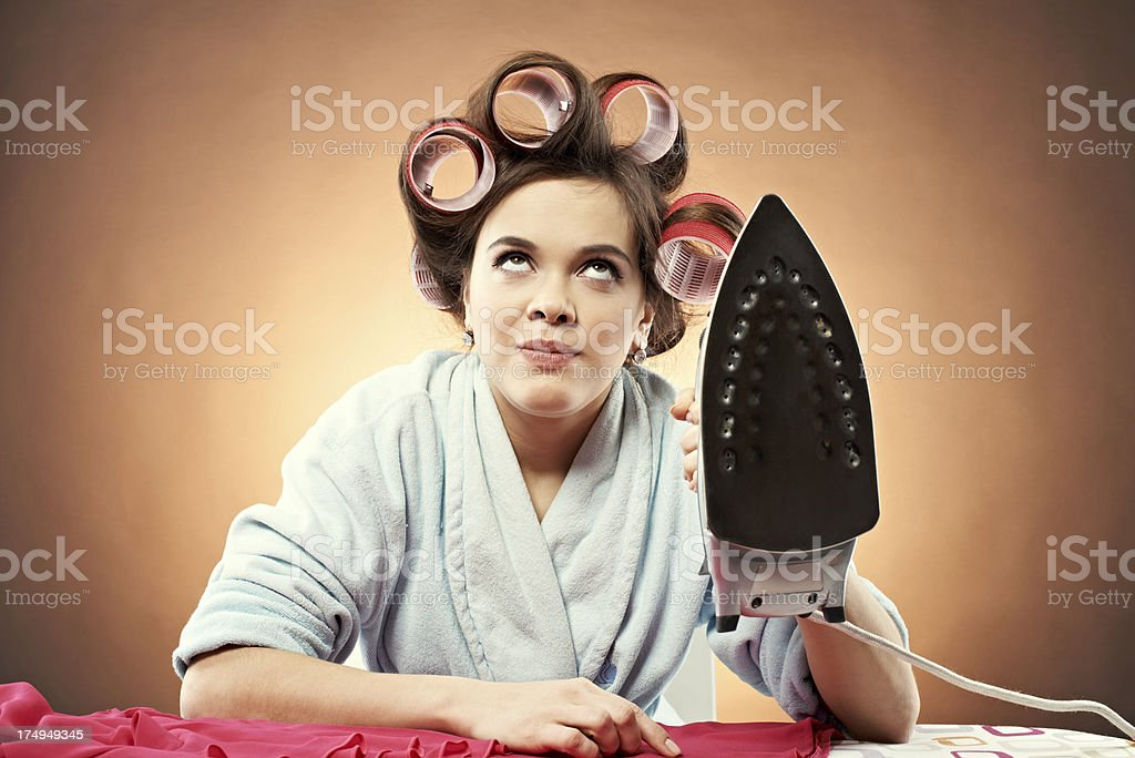 Typical housewife royalty-free stock photo