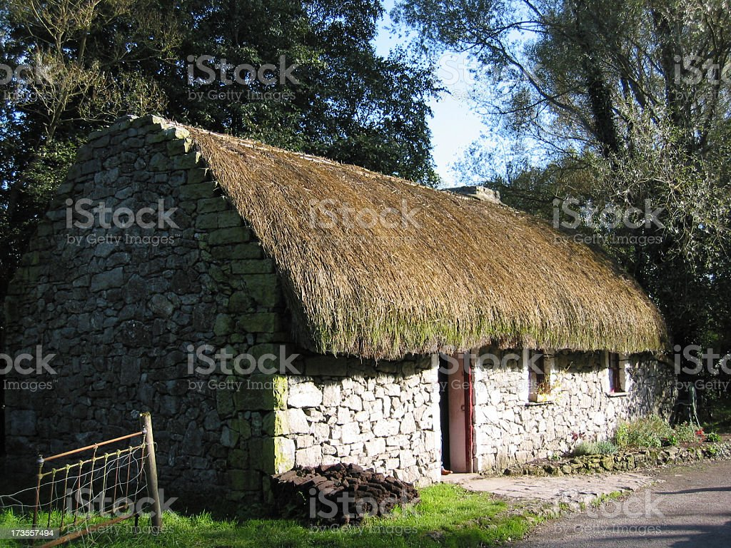 Typical Irish 19th century cottage (1) stock photo