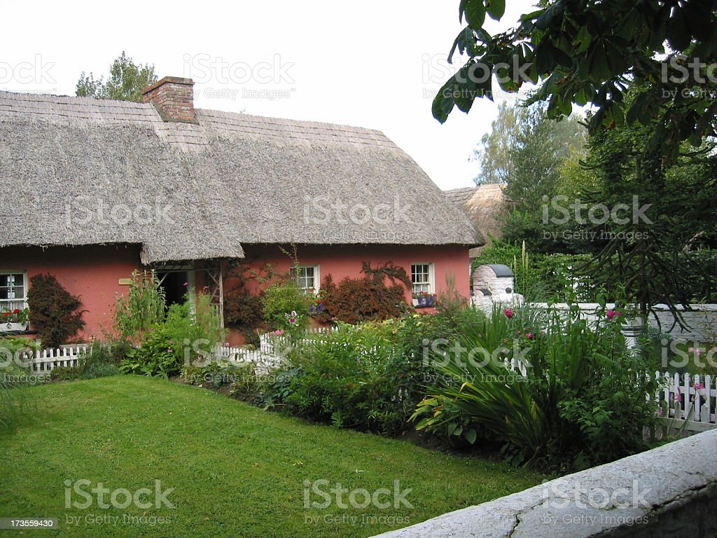 Typical Irish 19th century cottage (2) stock photo