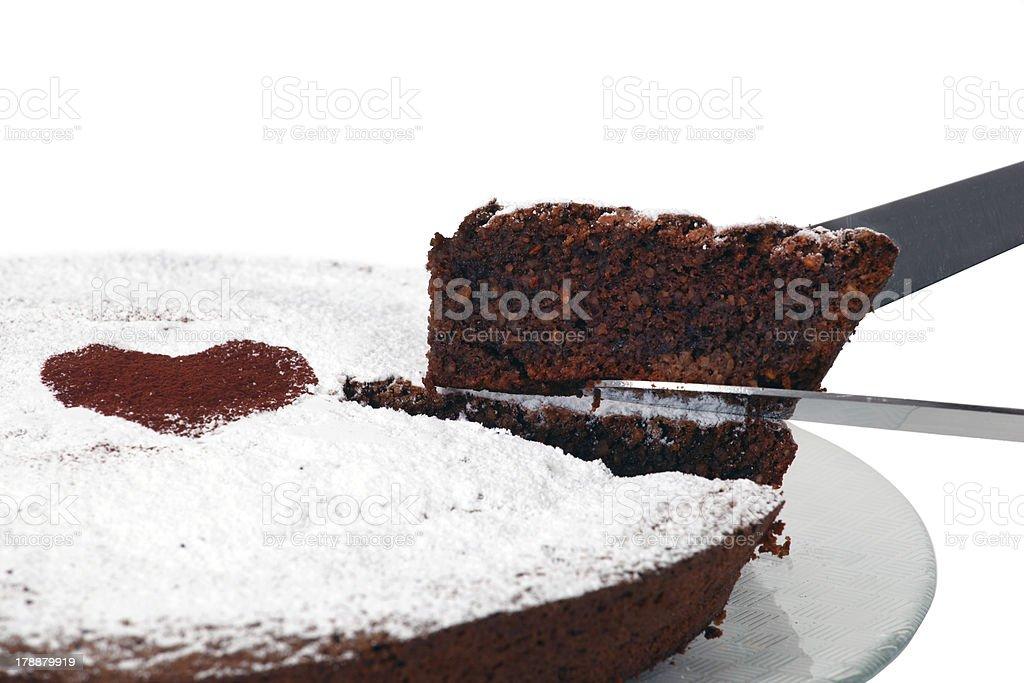 Typical italian cake torta caprese stock photo