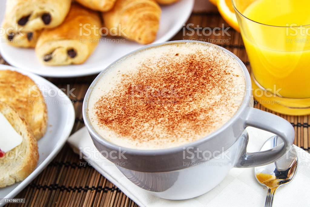 Typical Italian Cappuccino royalty-free stock photo
