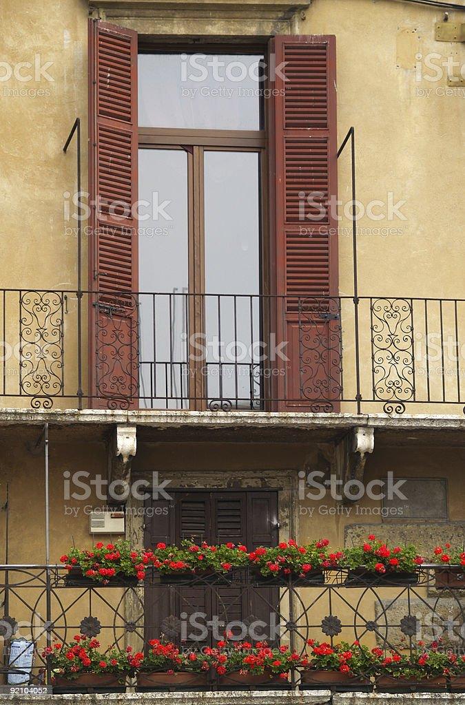 Typical italian house near Piazza Bra, Verona stock photo