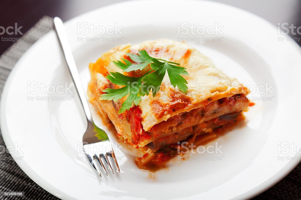 Typical italian lasagna stock photo