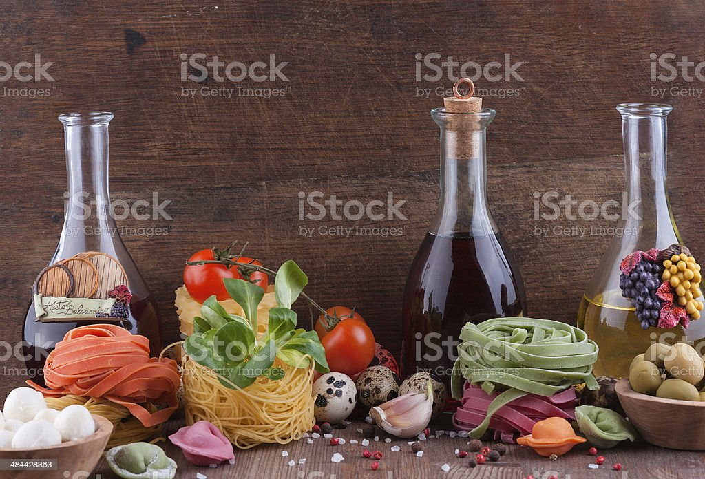 Typical Italian products stock photo