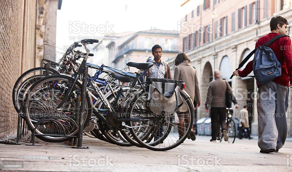 Typical Italian street scene royalty-free stock photo