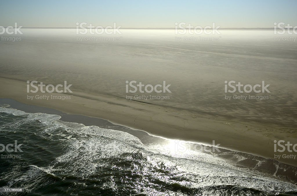 Typical landscape at Skeleton Coast stock photo