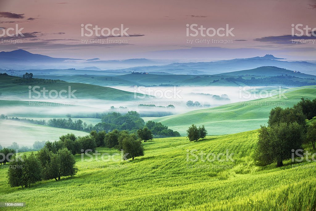 Typical landscape from Tuscany royalty-free stock photo