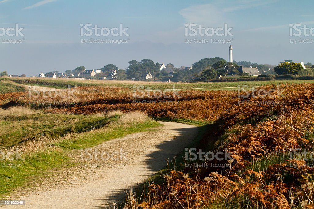 Typical landscape in the Finistere, Bretagne - France stock photo