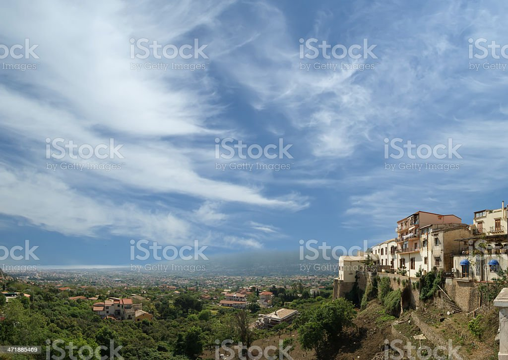 typical landscape of a mountain valley in Sicily, Italy royalty-free stock photo