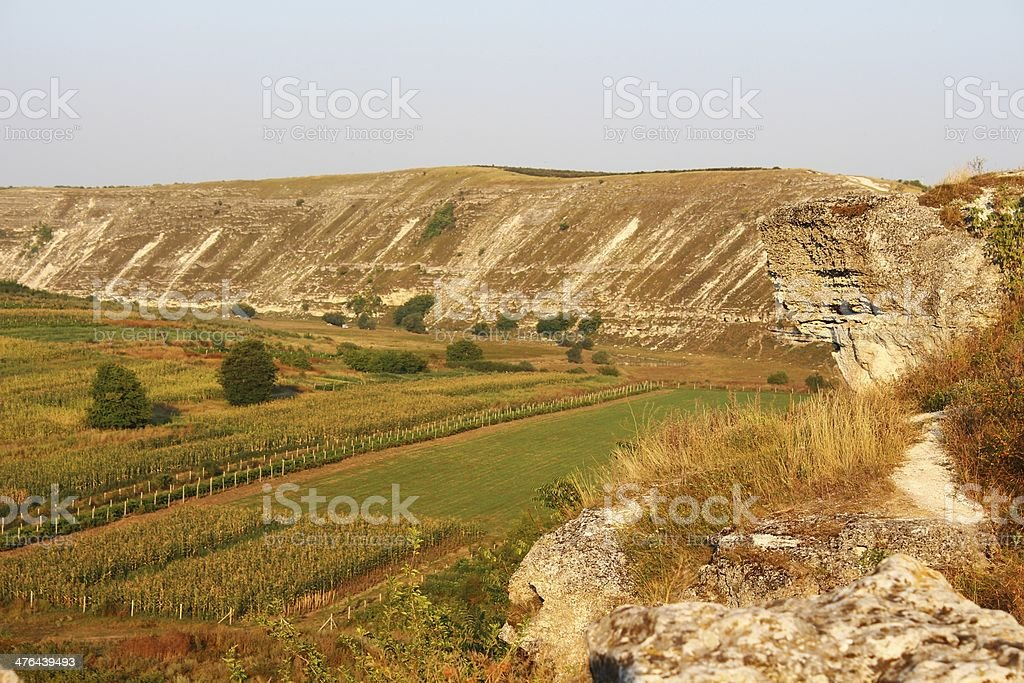 Typical landscape of Orheiul Vechi royalty-free stock photo