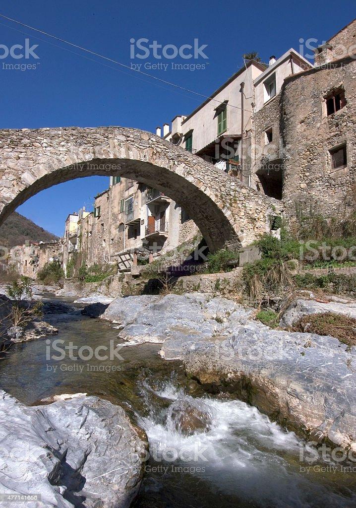 typical ligurian village stock photo
